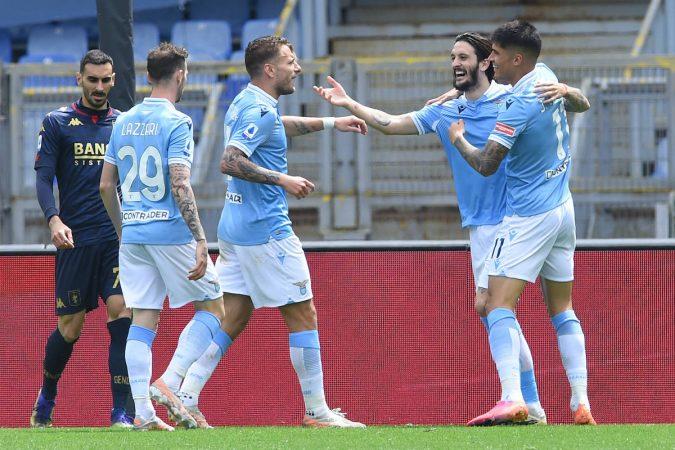 Soccer, Serie A League; Lazio Vs Milan Luis Alberto Of Ss Lazio Celebrate After Score The Goal During The Serie A League
