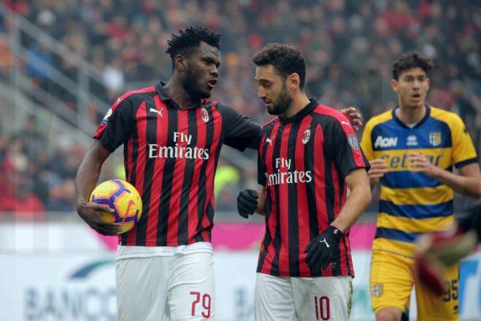 December 2 2018 Milan Milan Italy Frank Kessie 79 Of Ac Milan And Hakan Calhanoglu 10 Of Ac M