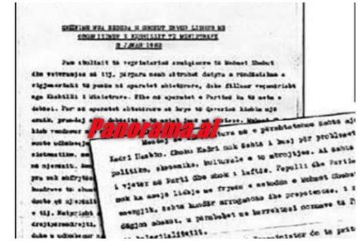 Enver Hoxha Kadri Hazbiu Pse Duhet Te Jete Kryeminister111
