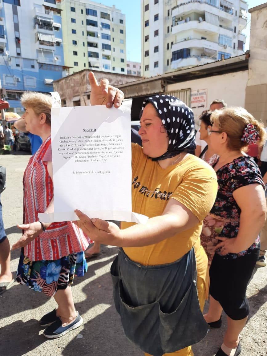 Tregtaret Durres Proteste