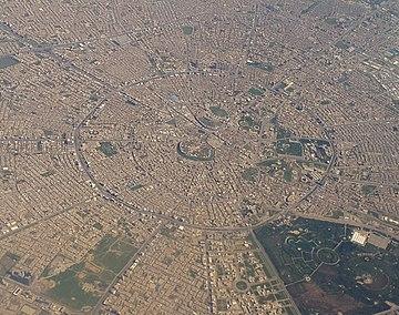 Aerial View Of Central Erbil, Kurdistan