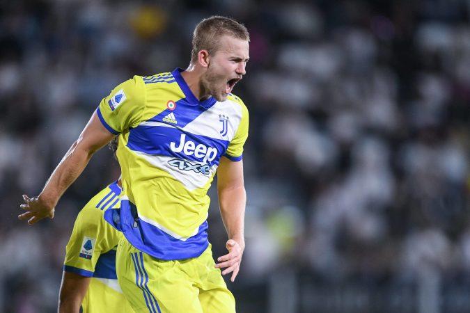 Spezia Calcio V Fc Juventus Serie A Matthijs De Ligt Of Fc Juventus Celebrates After Scoring Third Goal During The Ser